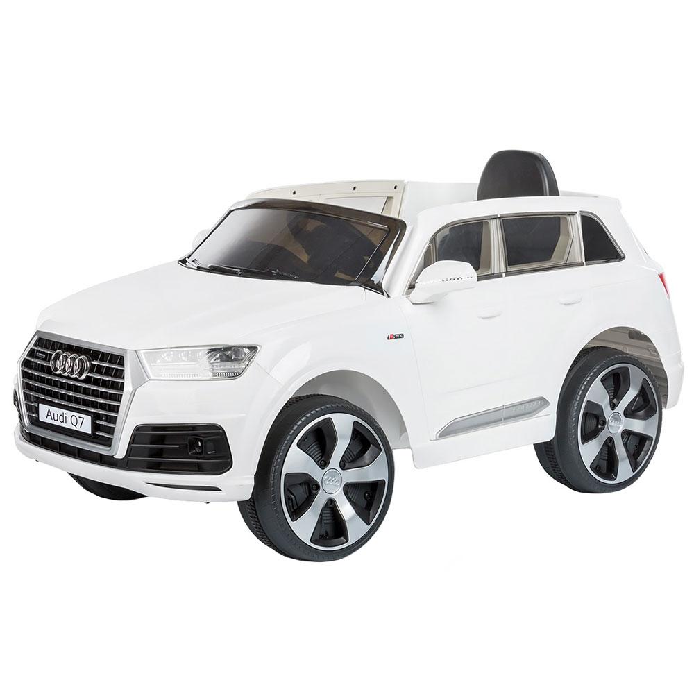 Masinuta electrica Chipolino Suv Audi Q7 white cu roti Eva - 4