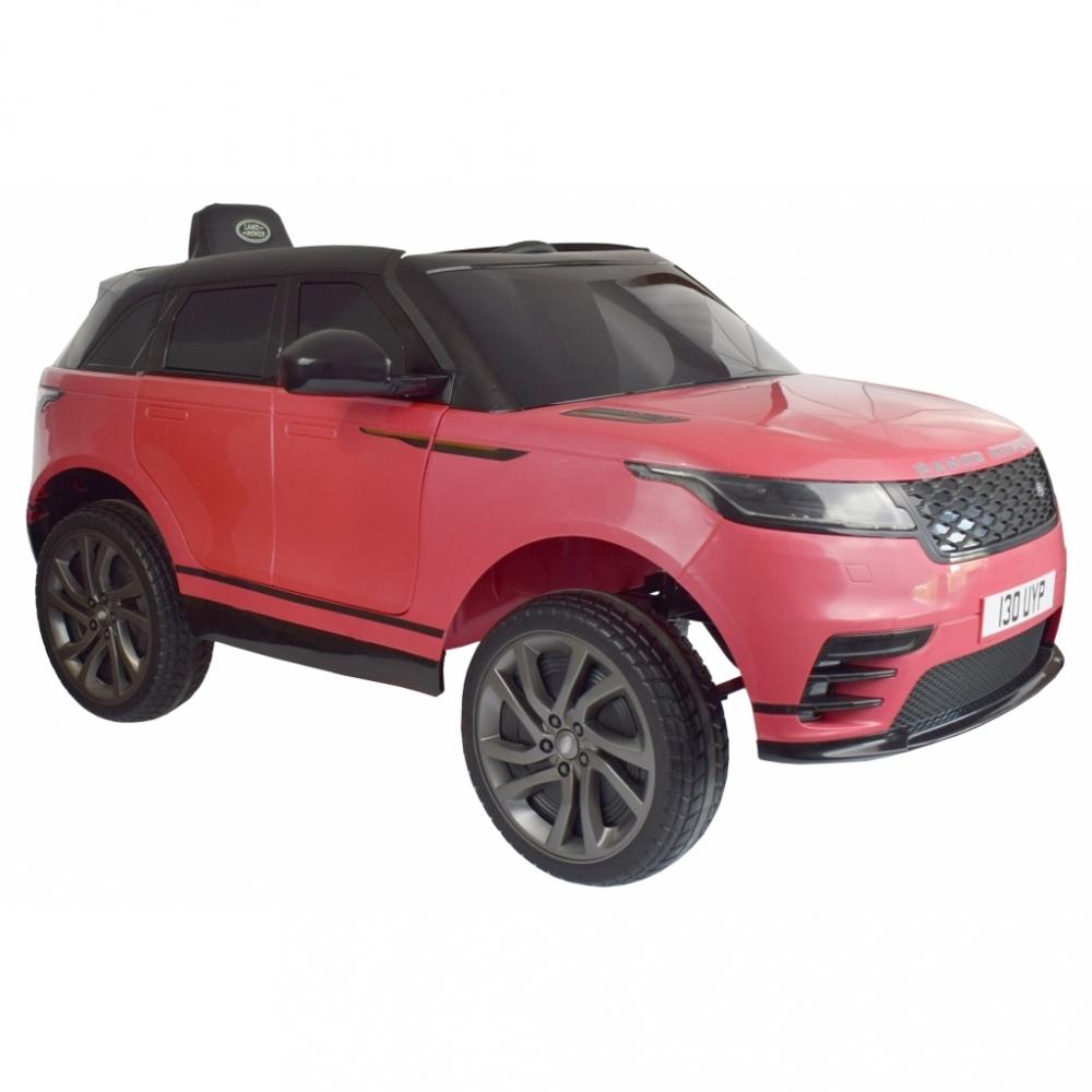 Masinuta electrica Range Rover Velar cu scaun de piele Roz