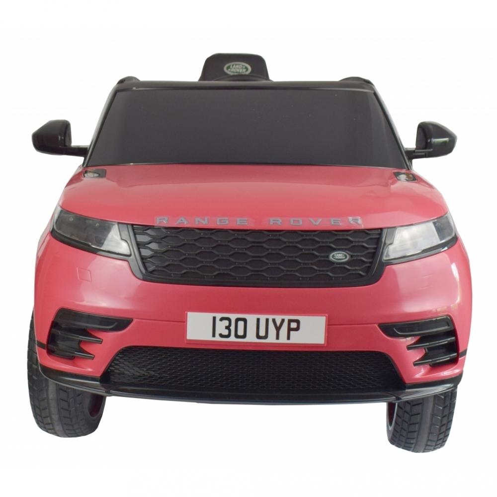 Masinuta electrica Range Rover Velar cu scaun de piele Roz - 1