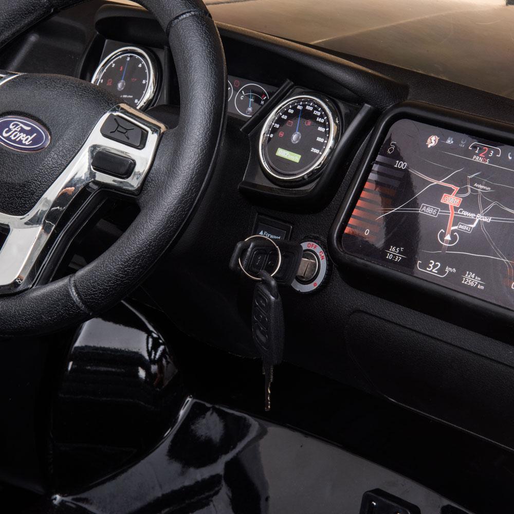Masinuta electrica cu roti din cauciuc Ford Raptor Police alb - 3