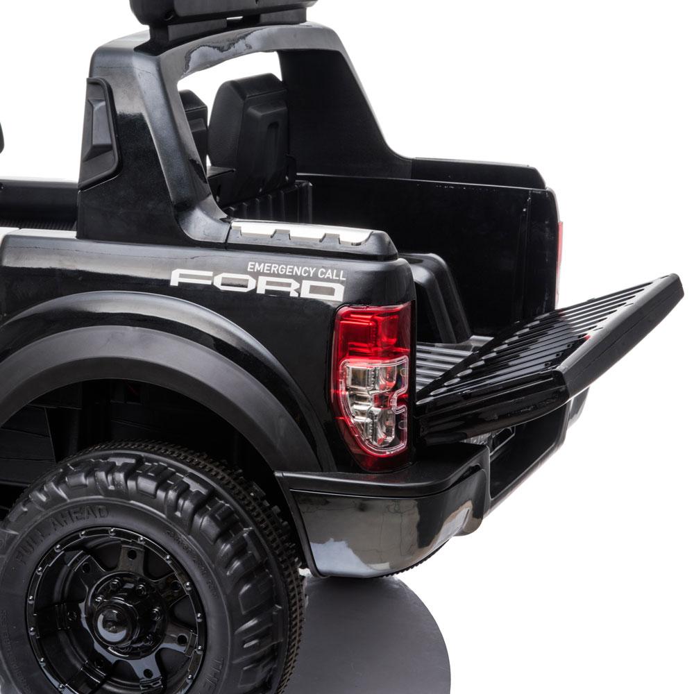 Masinuta electrica cu roti din cauciuc Ford Raptor Police alb - 4