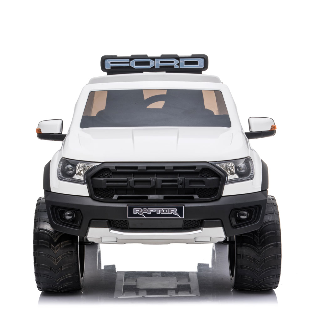 Masinuta electrica cu roti din cauciuc Ford Raptor alb imagine