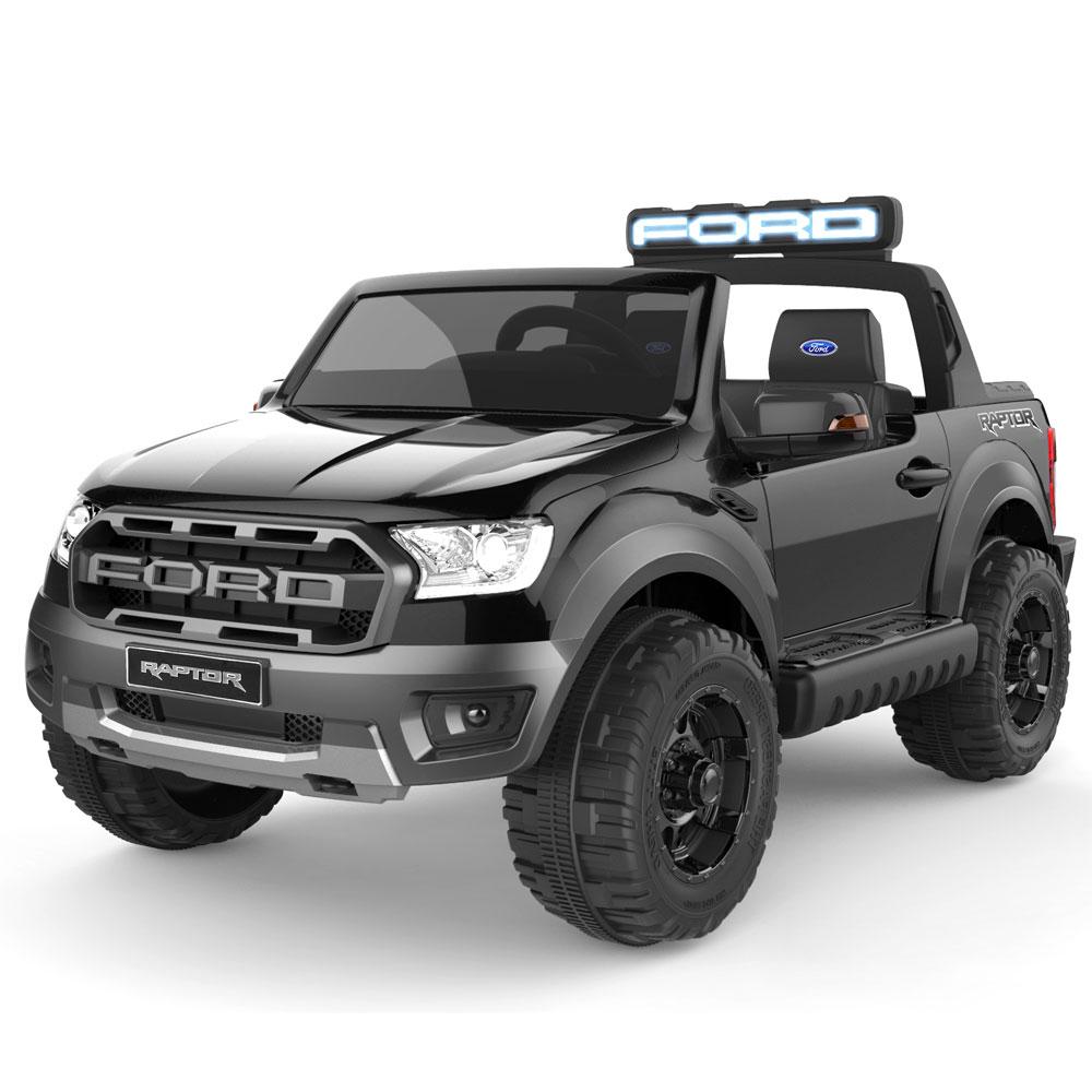 Masinuta electrica cu roti din cauciuc Ford Raptor negru - 1