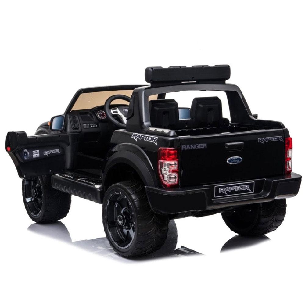 Masinuta electrica cu roti din cauciuc Ford Raptor negru
