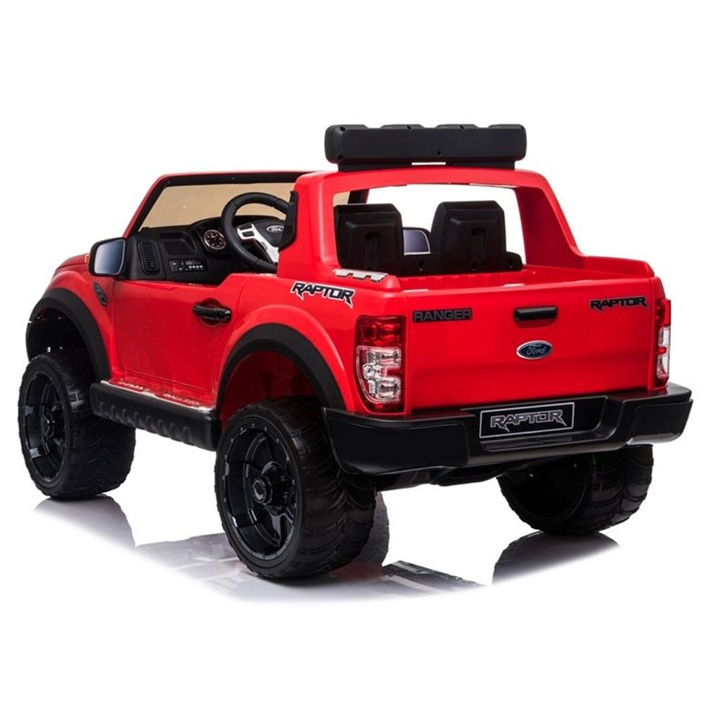 Masinuta electrica cu roti din cauciuc Ford Raptor rosu