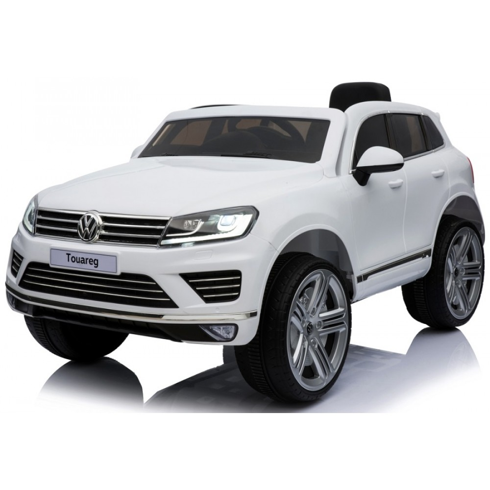Masinuta electrica cu roti din cauciuc Volkswagen Touareg alb