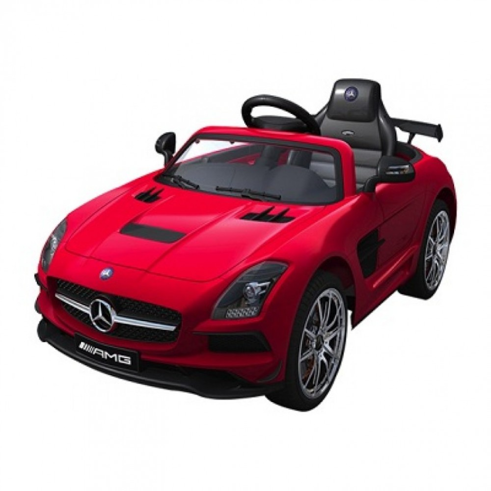 Masinuta electrica cu telecomanda si roti eva Mercedes AMG SLS rosu