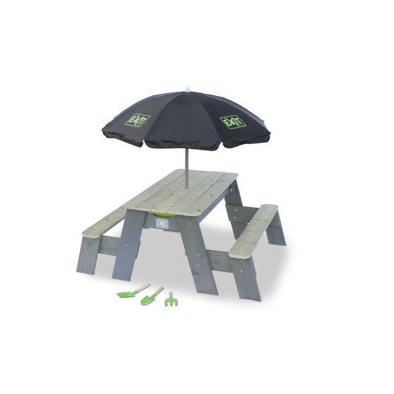Masuta gradina copii cu umbrela si ustensile de gradinarit Aksent