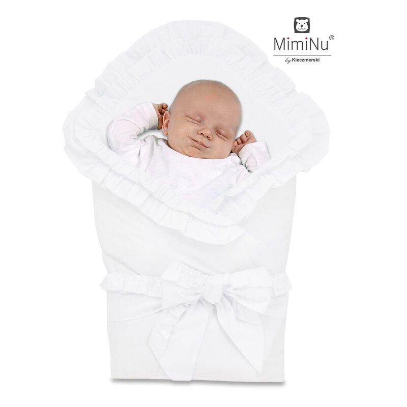 Paturica De Infasat Multifunctionala Pentru Botez 75x75 Cm White Miminu