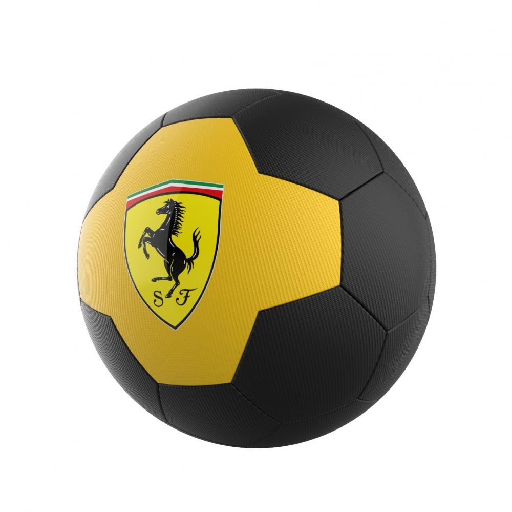 Minge de fotbal Ferrari marimea 5 galben negru