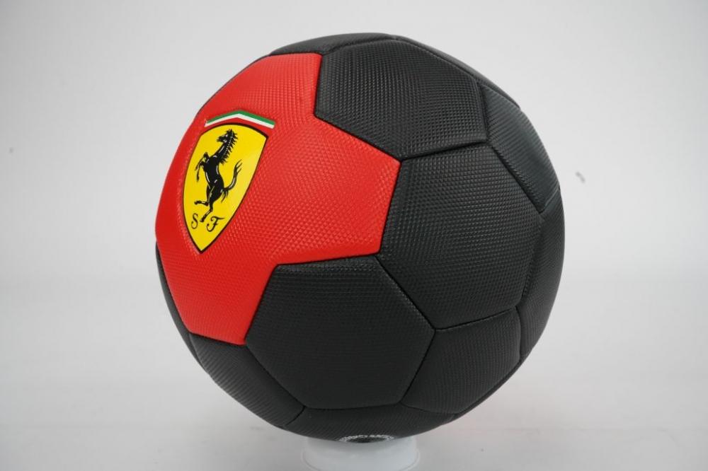 Minge de fotbal Ferrari marimea 5 rosu negru