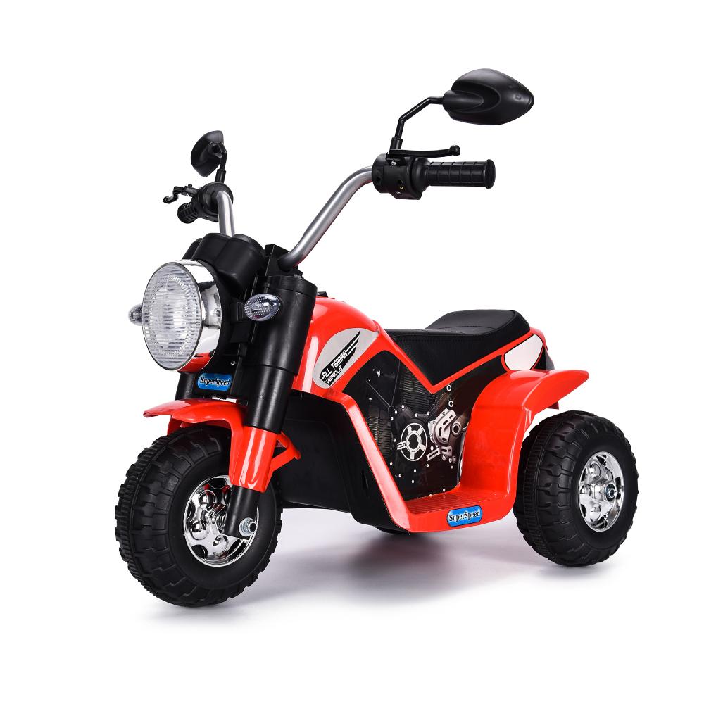 Motocicleta electrica cu scaun din piele Nichiduta Mini 6 volti Red