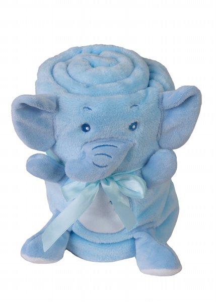 Paturica din plus cu mascota Elephant Blue 01