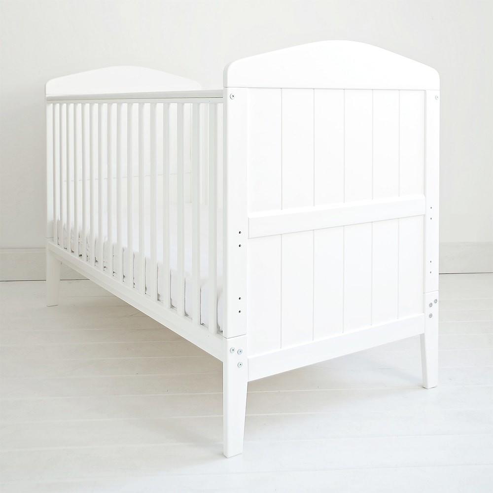 Patut din lemn masiv transformabil pentru bebe si junior Hampton 140 x 70 cm
