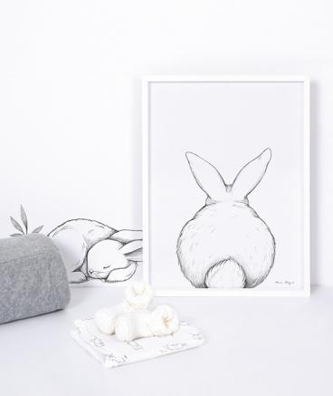 Poster (30x40cm) Bunny from the back imagine