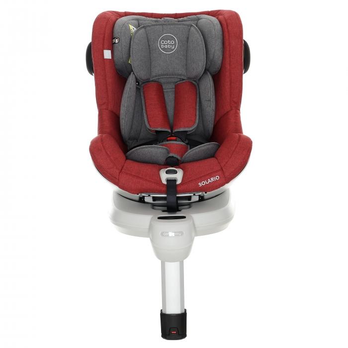 Scaun auto Coto Baby Solario Melange Red 360 grade isofix 0-18 kg imagine