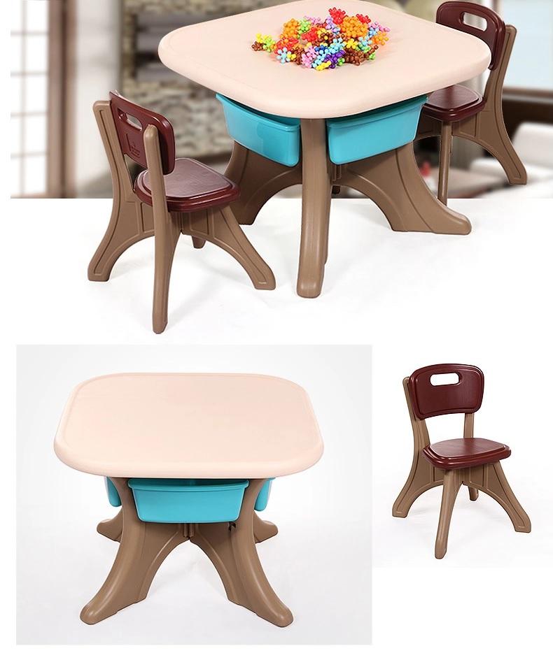 Set masuta cu doua scaunele Comfort Brown