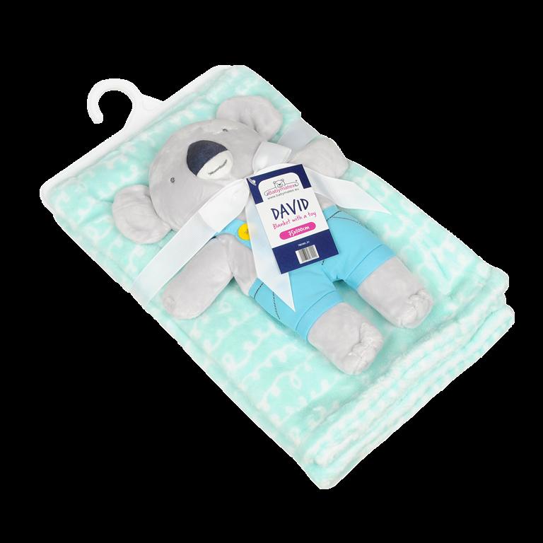 Set paturica si jucarie de plus Carol Baby Blanket Koala 01
