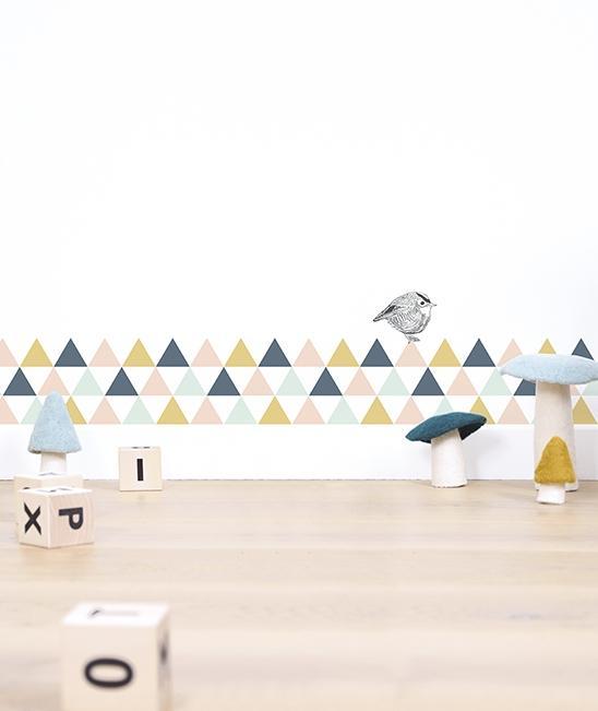 Sticker A3(29 7x42cm) Triangles Girl imagine