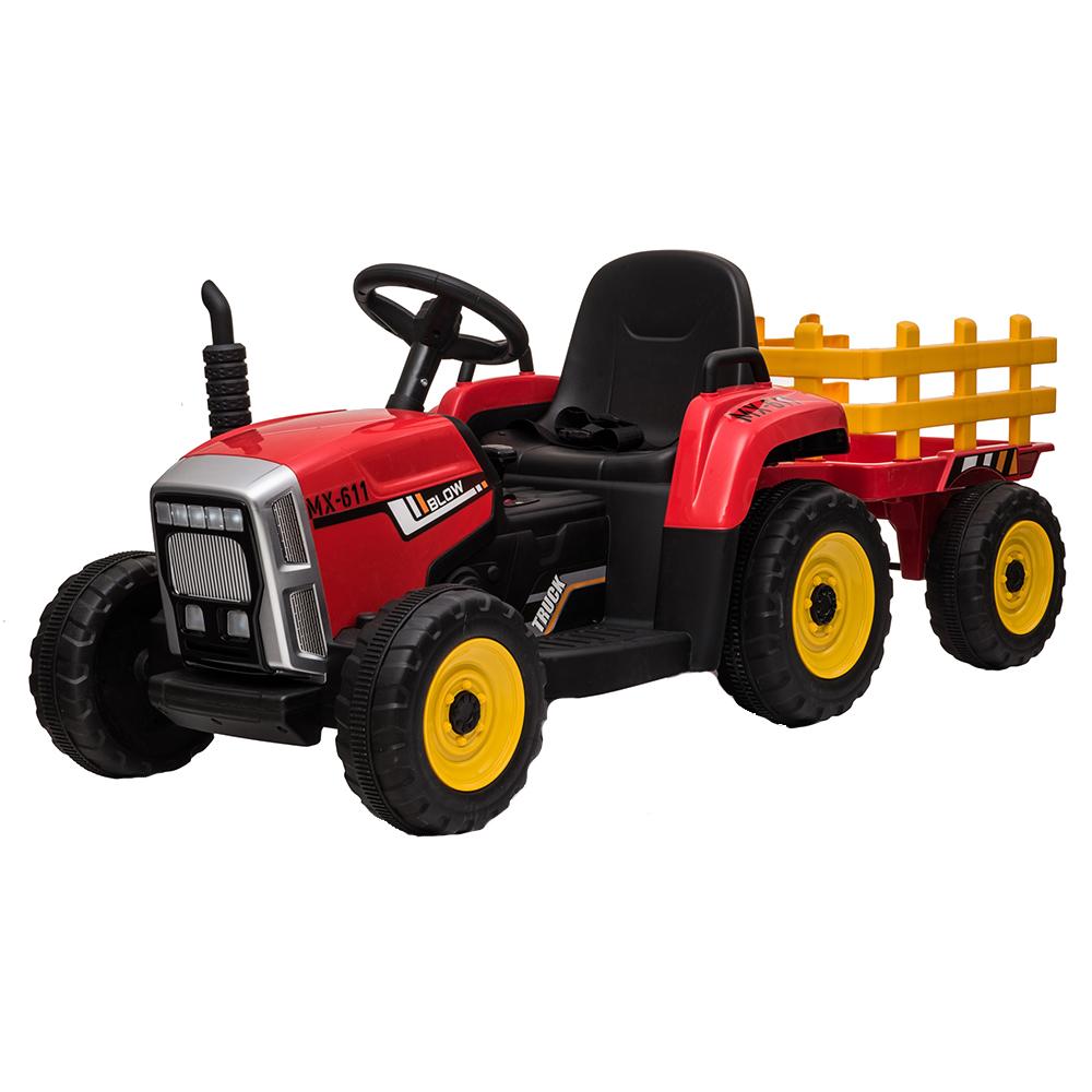 Tractor electric 12V cu remorca Farmer Red imagine