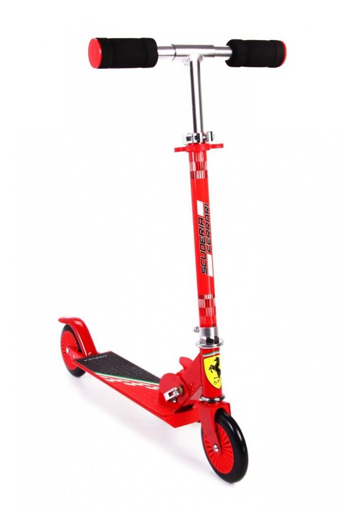 Trotineta pliabila Ferrari pentru copii cu roti 120 mm rosu imagine