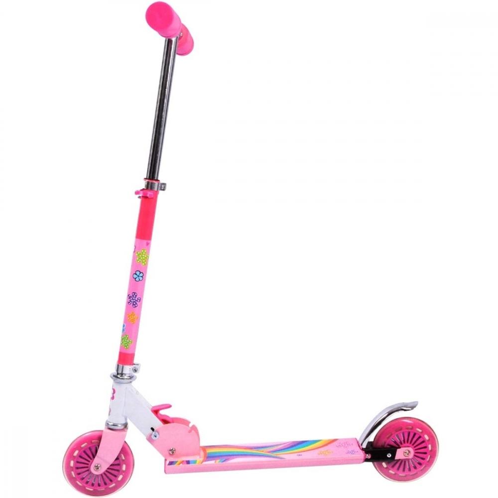 Trotineta pliabila roz Sports Active 3-5 ani imagine