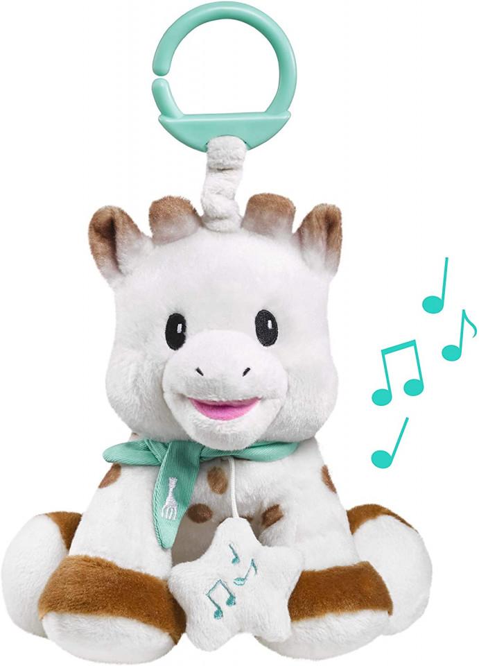 Jucarie muzicala Girafa Sophie pufoasa 20 cm Vulli