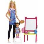 Set mobilier cu papusa Profesoara de pictura Barbie