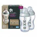 Biberoane Tommee Tippee Closer to Nature 340 ml PP Ursuleti Panda 3 luni +