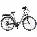 Bicicleta electrica City E-BIKE C1010E 28 inch gri/alb