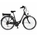 Bicicleta electrica City E-BIKE C1010E roata 28 inch negru/alb