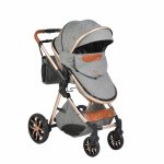Carucior 2 in 1 transformabil Moni Alma Dark Grey