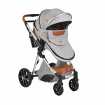Carucior 2 in 1 transformabil Moni Alma Grey