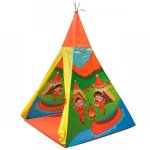 Cort indian teepee de joaca pentru copii tip wigwam