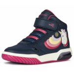 Ghete Geox J Inek Girl Navy Fuchsia 30 (194 mm)