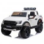 Masinuta electrica cu roti din cauciuc Ford Raptor alb