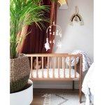 Mini Patut co-sleeping din lemn classic vintage cu saltea 90x40 cm