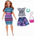 Papusa Barbie Fashionista roscata cu haine de schimb