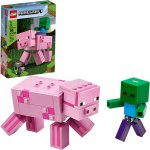 Lego Minecraft porc Bigfig cu bebelus de zombi