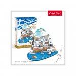 Puzzle 3D Insula Santorini nivel complex 129 piese