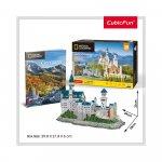Puzzle 3D Castelul Neuschwastein si brosura 128 piese