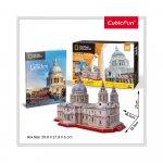 Puzzle 3D Catedrala St. Paul si brosura 107 piese
