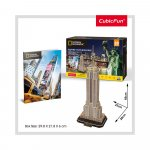 Puzzle 3D Empire State Building si brosura 66 piese