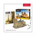 Puzzle 3D Notre Dame Paris si brosura 128 piese