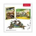 Puzzle 3D parcul dinozaurilor si brosura 43 piese