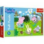 Puzzle Trefl Peppa Pig in drumetie 30 piese