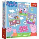 Puzzle Trefl Peppa Pig activitati scolare 3 in 1