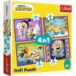Puzzle Trefl Lumea Minionilor 4 in 1