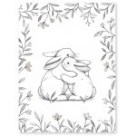 Poster (30x40cm) Bunny loves you