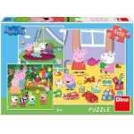 Puzzle 3 in 1 Purcelusa Peppa in vacanta 55 piese